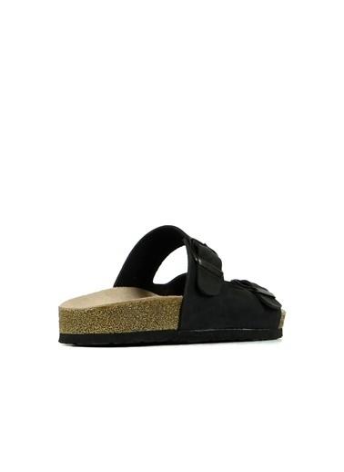 Hammer Jack Joe Hakiki Deri Kadın Terlik / Sandalet 420 902.002-Z Siyah